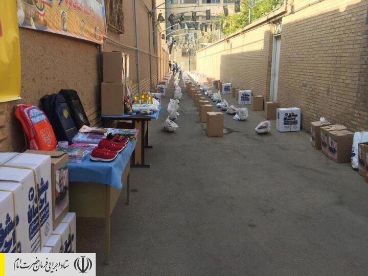 توزیع بستههای لوازمتحریر بین دانشآموزان مناطق محروم استان یزد توسط ستاد اجرایی فرمان امام