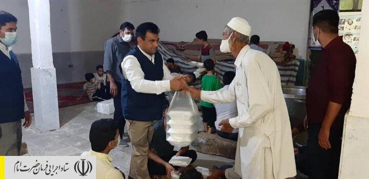 طبخ و توزیع غذای گرم در مناطق محروم استان سیستان و بلوچستان توسط ستاد اجرایی فرمان امام