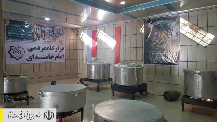 طبخ و توزیع غذای گرم در مناطق محروم استان لرستان توسط ستاد اجرایی فرمان امام