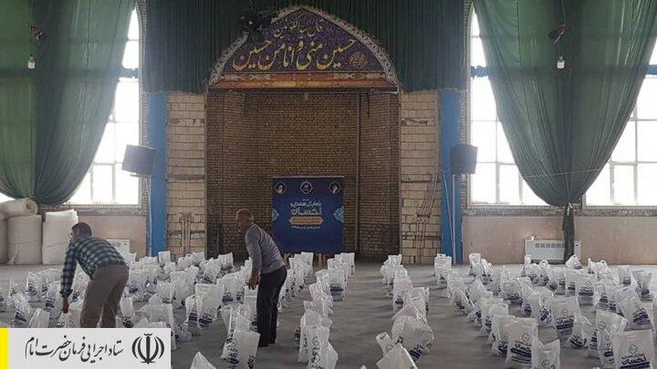 توزیع بستههای پروتینی رزمایش همدلی و احسان در زنجان