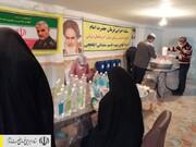تولید اقلام بهداشتی ضدکرونایی توسط نیروهای جهادی ستاد اجرایی فرمان امام در آذربایجان شرقی