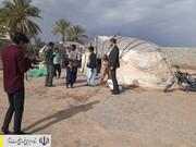 توزیع چادرهای امدادی در مناطق سیل زده کرمان توسط نیروهای جهادی ستاد اجرایی فرمان امام