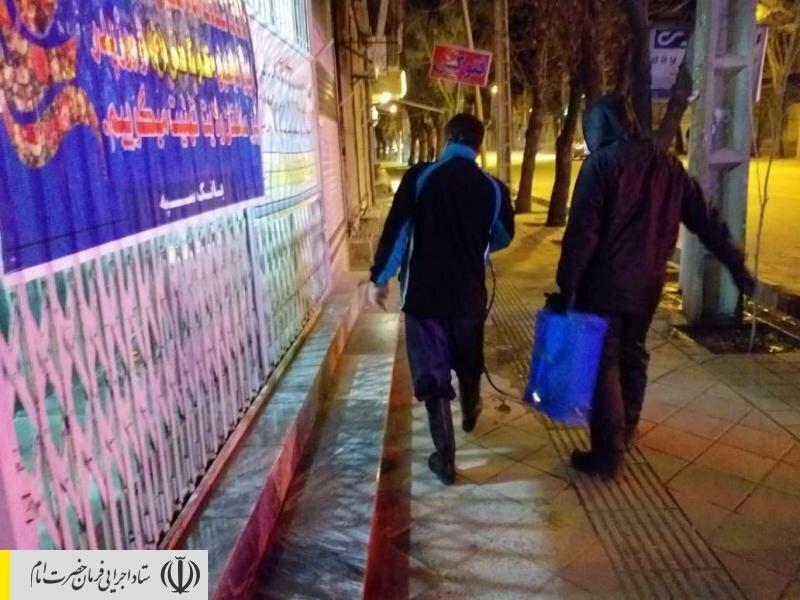 تولید ماسک و ضدعفونی معابر عمومی توسط نیروهای جهادی ستاد اجرایی فرمان امام در استان لرستان
