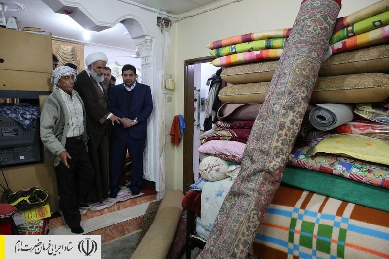 بازدید رئیس ستاد اجرایی فرمان امام از مناطق سیل زده آبادان
