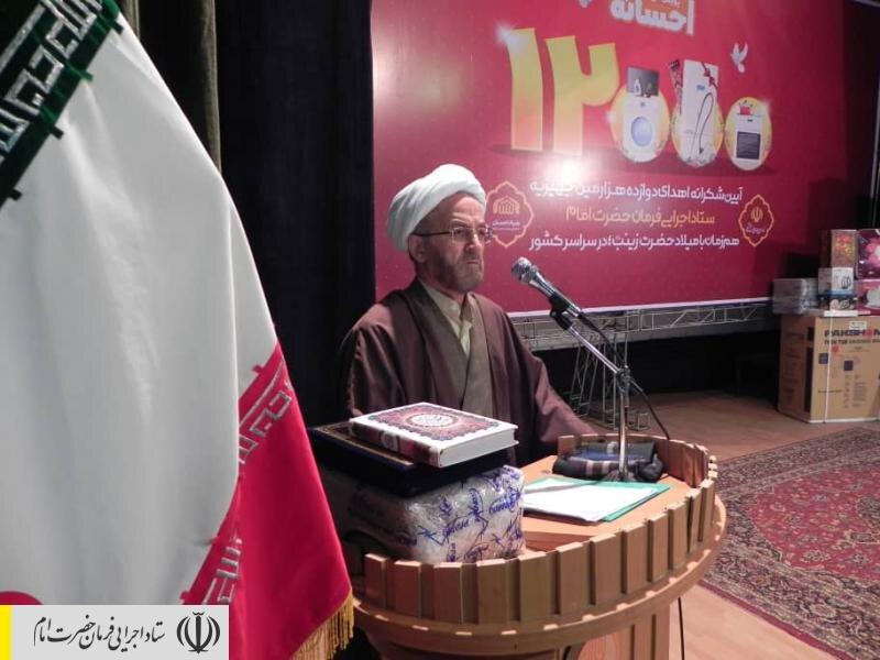 جشن اهدای ۱۲ هزارمین جهیزیه ستاد اجرایی فرمان امام به تازه عروسها در آذربایجان شرقی