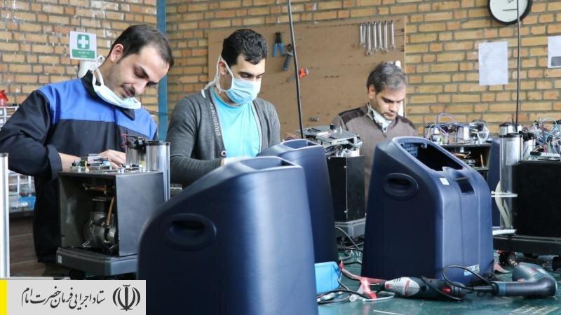 تولید دستگاههای اکسیژن ساز و بای پپ برای اولین بار در کشور توسط ستاد اجرایی فرمان امام برای نجات بیماران کرونایی