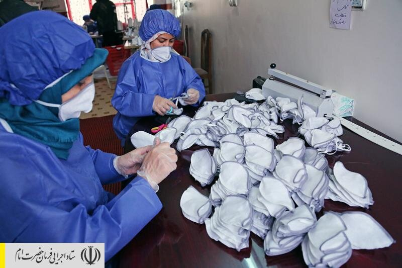 تولید روزانه ۵۰ هزار ماسک در خیاطیها و واحدهای تولیدی تازه راه افتاده با حمایت ستاد اجرایی فرمان امام