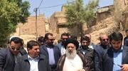 بازدید اولین مسئول کشوری از مناطق زلزله زده مسجدسلیمان