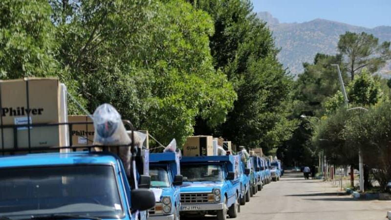 اهدای ۴۰۰ بسته لوازم خانگی به سیلزدگان ایلام توسط ستاد اجرایی فرمان امام