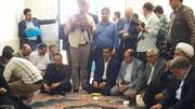 دیدار رییس ستاد اجرایی فرمان امام با خانواده شهدا و مردم نهبندان و سربیشه