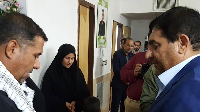 دیدار رییس ستاد اجرایی فرمان امام با خانواده اولین شهید مدافع حرم خراسان جنوبی