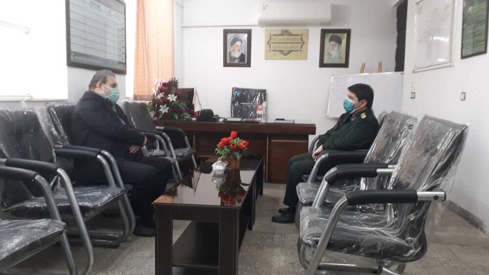 دیدار مدیرکل ستاد اجرایی فرمان حضرت امام(ره) استان گلستان با فرمانده بسیج سپاه پاسداران مینودشت