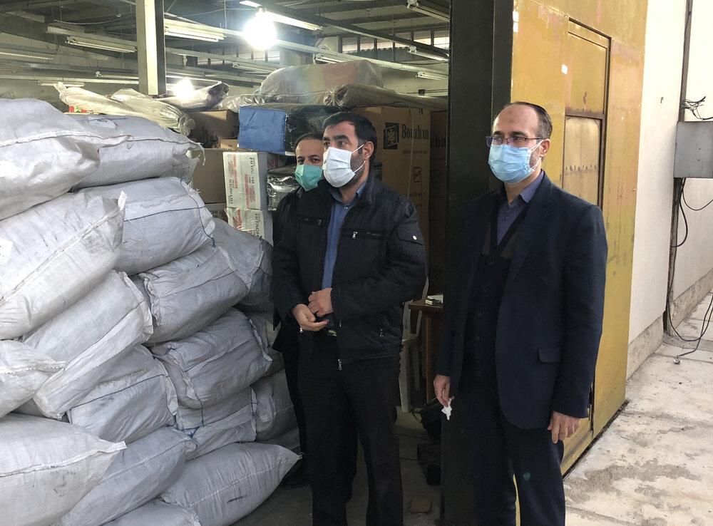ارسال 1000 عدد پتو و 200 عدد چادر جهت قرارگاه امداد فارس با حضور مدیر قرارگاه امداد بنیاد احسان در شیراز