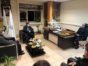 جلسه مدیر قرارگاه امدادی بنیاد احسان با مدیر کل مدیریت بحران استان فارس و گروه های جهادی در شیراز