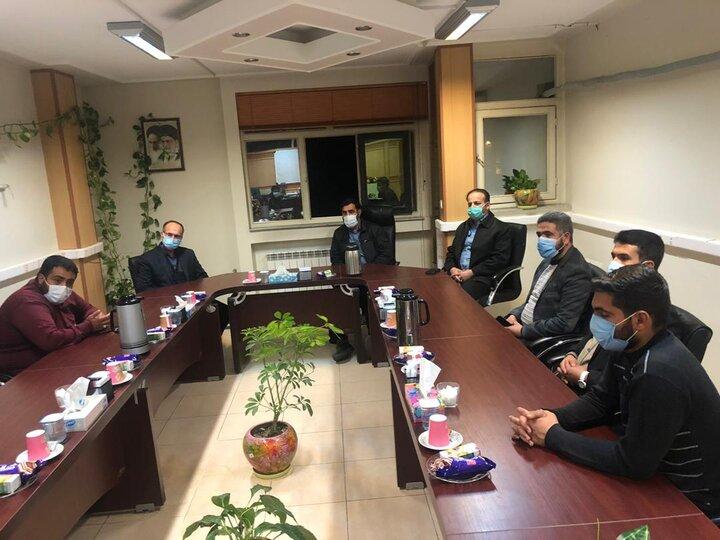 جلسه با مدیر فوریت های امدادی بنیاد احسان با مدیر کل بحران استان فارس