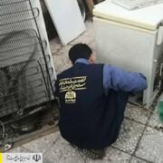 حضور نماینده رئیس ستاد اجرایی فرمان امام در منزل مادر ماهشهری و تخلیه آب گرفتگی منزلش با کمک نیروهای جهادی
