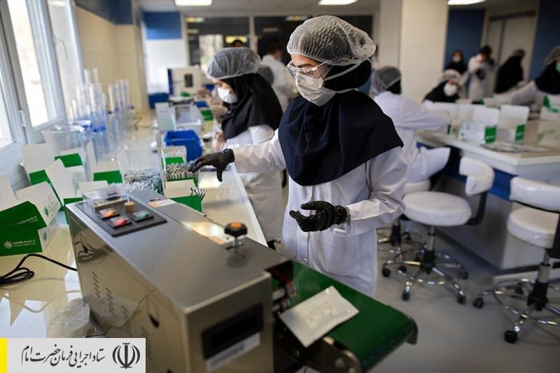گزارش تصویری خبرگزاری فارس از خط تولید کیت تشخیص فوری کرونا