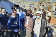 توزیع اقلام مورد نیاز بین اهالی سیل زده منطقه سیریک