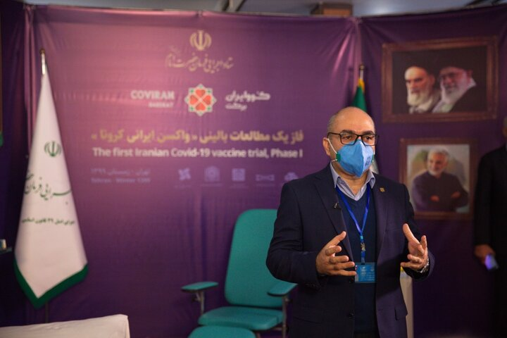گزارش تصویری از اولین تزریق واکسن ایرانی کرونا