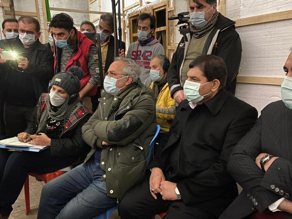 حضور رئیس ستاد اجرایی فرمان امام در پشت صحنه سریال فاخر سنجرخان