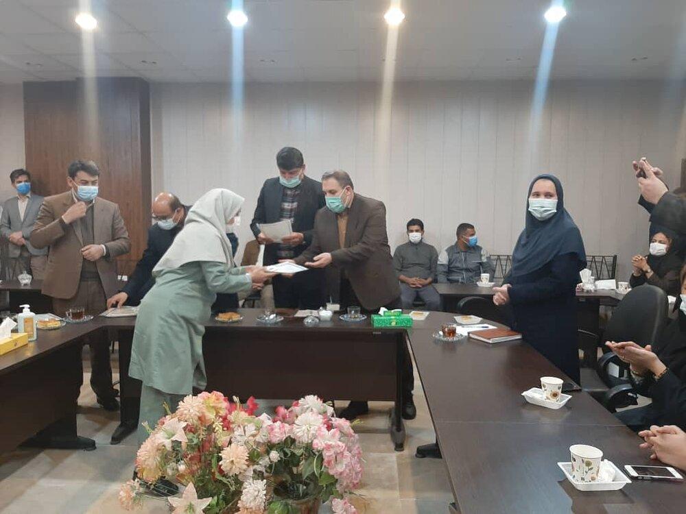 تجلیل از پرستاران بخش کرونایی در بیمارستان آل جلیل شهرستان آق قلا