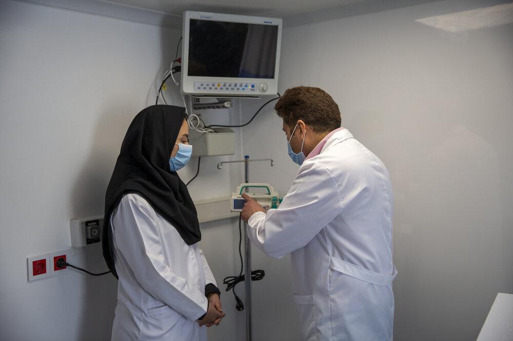 افتتاح بیمارستان سیار 99 تخته خوابی احسان