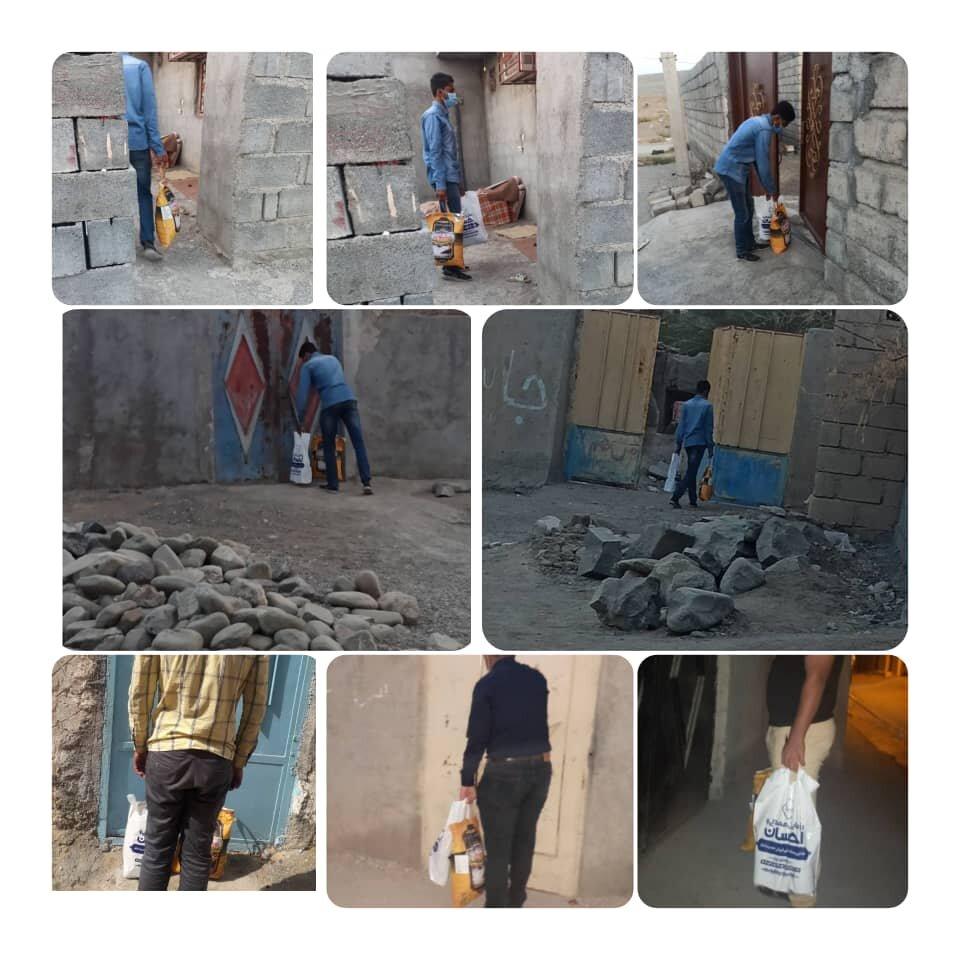 توزیع بسته های معیشتی اهدائی در محلات حاشیه نشین بندرعباس