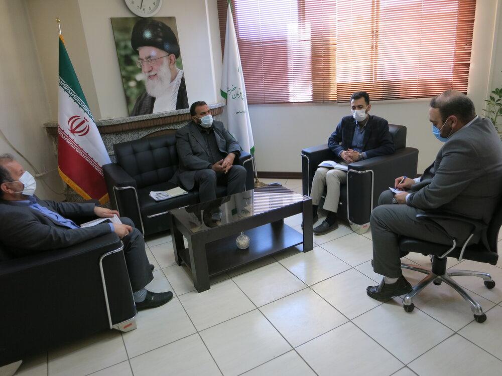 دیدار سرهنگ عجمی رئیس سازمان بسیج سازندگی اصفهان با مدیر کل ستاد اجرایی فرمان امام (ره)
