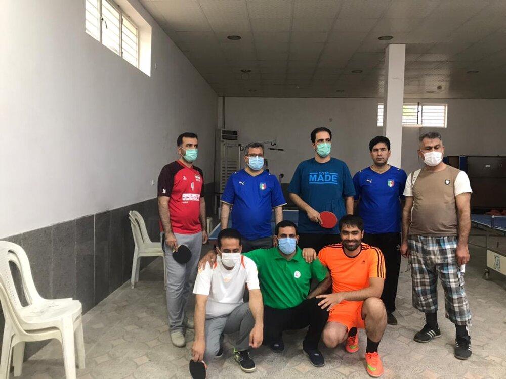 برگزاری مسابقات تنیس روی میز در اداره کل ستاد اجرایی فرمان حضرت امام (ره) هرمزگان