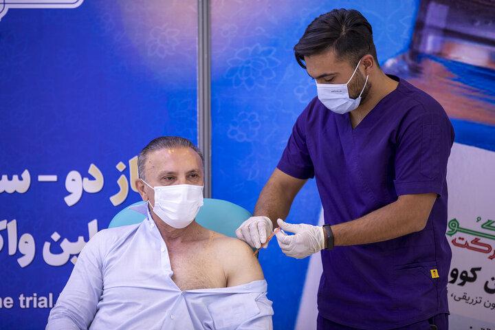 حمید درخشان (فوتبالیست) در تزریق واکسن کوو ایران برکت ، فاز 3 مطالعات بالینی