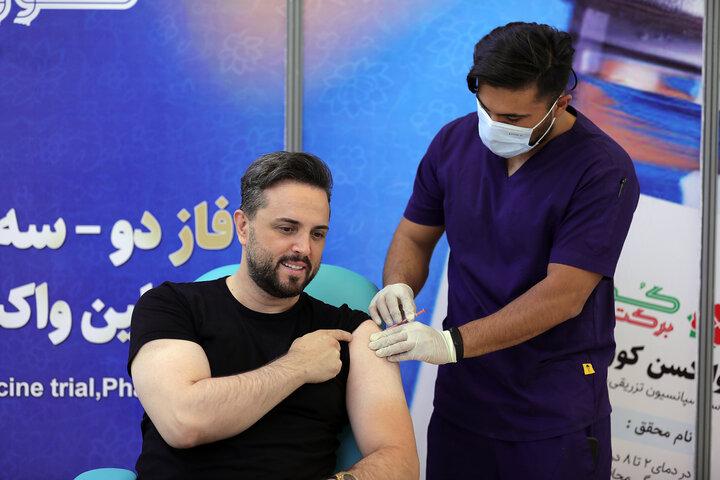 پدرام کریمی (مجری) در تزریق واکسن کوو ایران برکت ، فاز 3 مطالعات بالینی