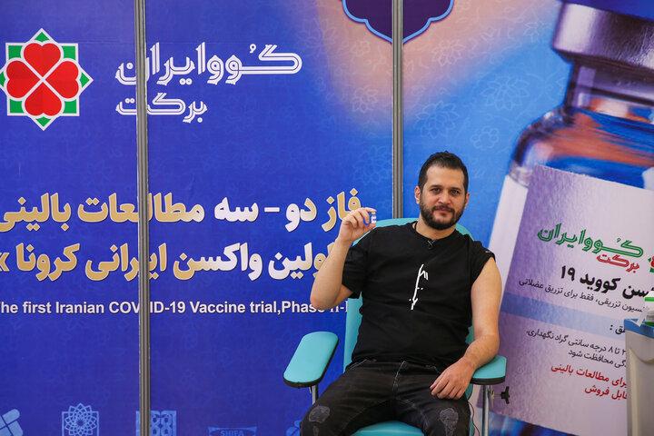 سیاوش خیرابی (بازیگر) در تزریق واکسن کوو ایران برکت ، فاز 3 مطالعات بالینی