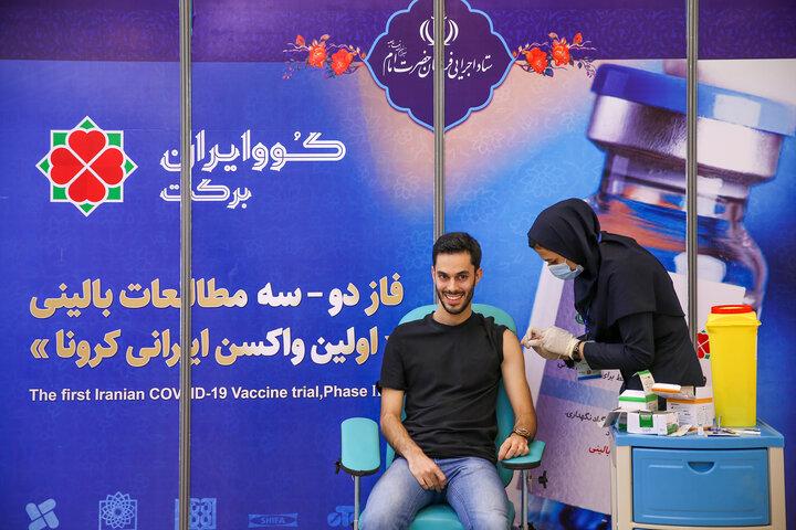 محمد موسی زاده (قاری) در تزریق واکسن کوو ایران برکت ، فاز 3 مطالعات بالینی