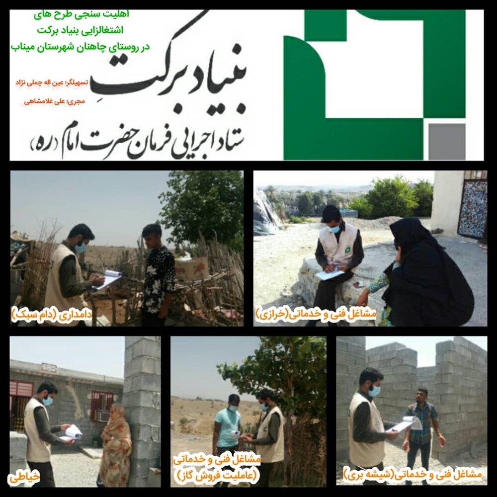 اهلیت سنجی رسته های شغلی روستای چاهنان، بخش سندرک شهرستان میناب استان هرمزگان