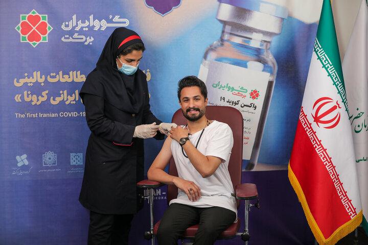 مصطفی راغب (خواننده) در تزریق واکسن کوو ایران برکت ، فاز 3 مطالعات بالینی