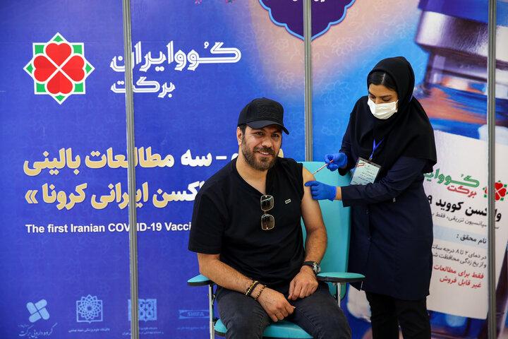 گرشا رضایی (خواننده) در تزریق واکسن کوو ایران برکت ، فاز 3 مطالعات بالینی
