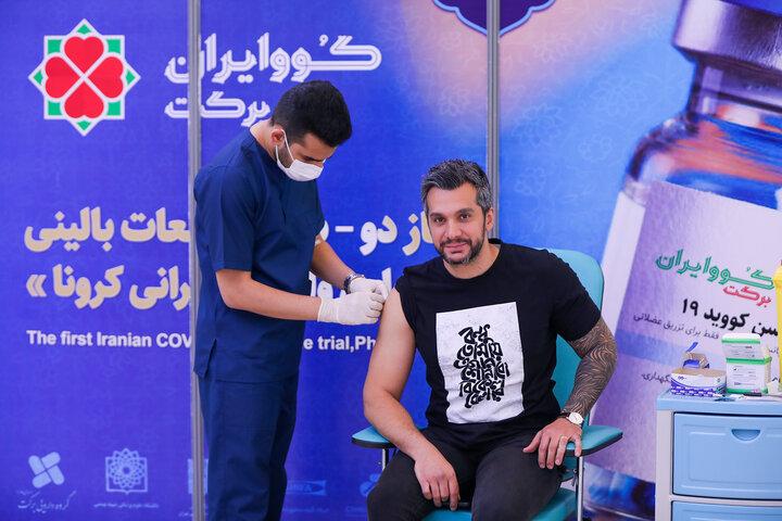 سامان امامی (آهنگساز) در تزریق واکسن کوو ایران برکت ، فاز 3 مطالعات بالینی