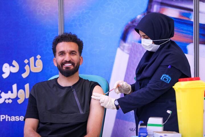 محمد نوری (فوتبالیست) در تزریق واکسن کوو ایران برکت ، فاز 3 مطالعات بالینی