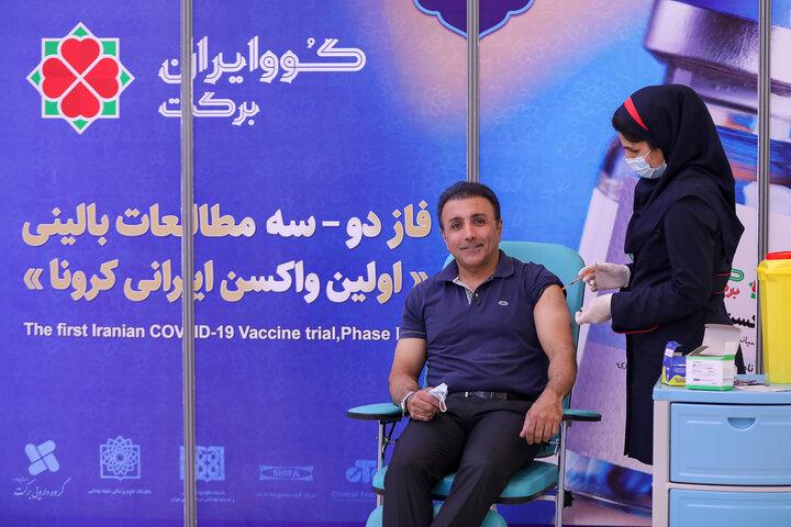 امید زندگانی (بازیگر) در تزریق واکسن کوو ایران برکت ، فاز 3 مطالعات بالینی