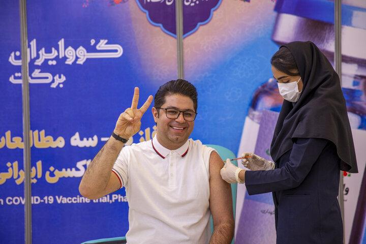 حجت اشرفزاده (خواننده) در تزریق واکسن کوو ایران برکت ، فاز 3 مطالعات بالینی