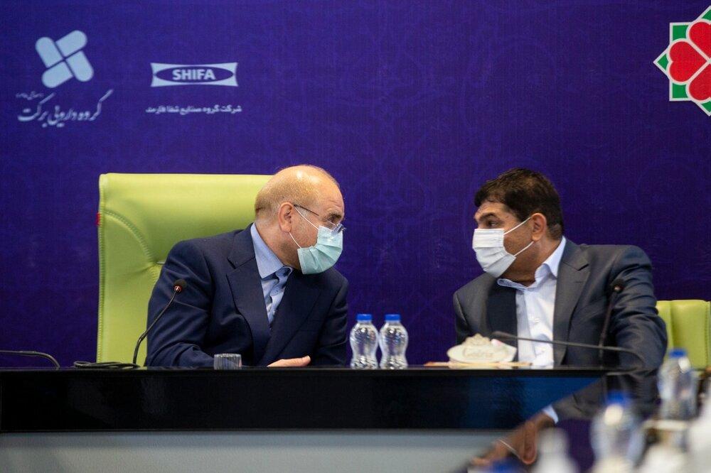 بازدید محمدباقر قالیباف از کارخانه واکسن برکت