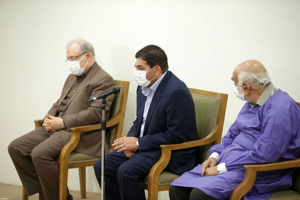 رهبر معظم انقلاب اسلامی دوز اول واکسن کوو ایران برکت را دریافت کردند