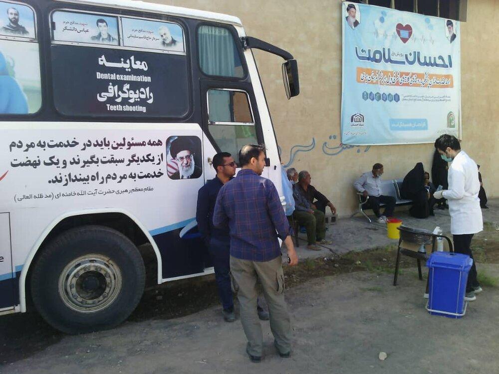 اعزام کاروان سلامت احسان به روستای پل ابریشم شهرستان میامی