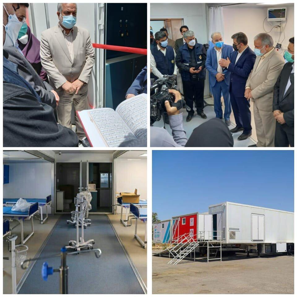 افتتاح بیمارستان سیار احسان ستاد اجرایی فرمان حضرت امام(ره) در زاهدان