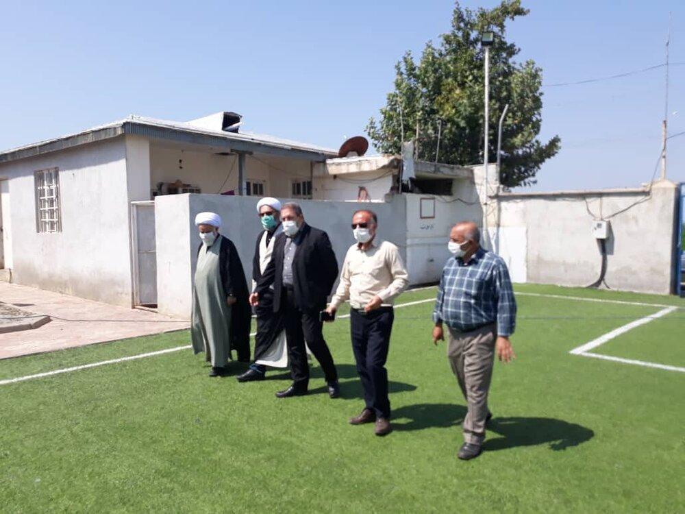 بازدید از زمین ورزشی ستاد اجرایی فرمان حضرت امام