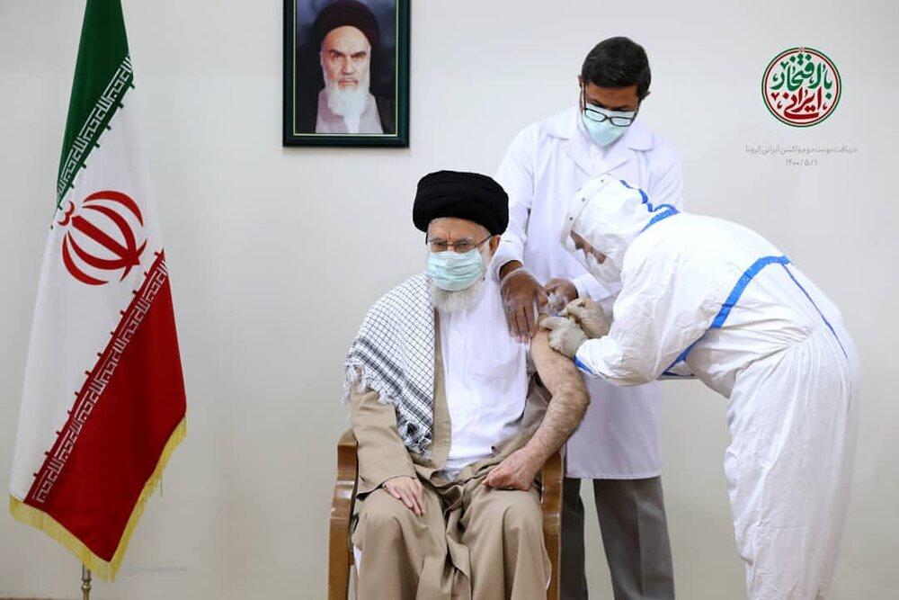 رهبرمعظم انقلاب پیش از ظهر امروز (جمعه) یکم مرداد ماه، نوبت دوم واکسن ایرانی کرونا (کوو ایران برکت) را دریافت کردند