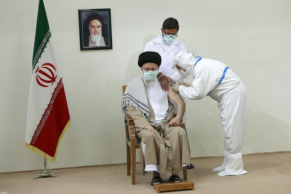 تزریق دوز دوم واکسن کوو ایران برکت به رهبر انقلاب