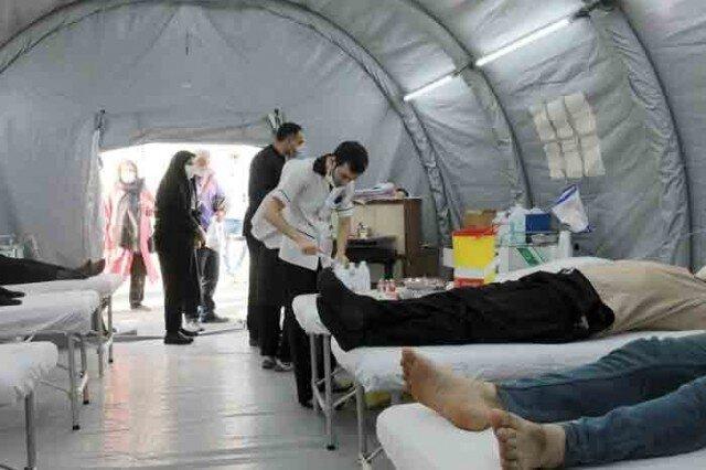 استقرار بیمارستان صحرایی با ظرفیت 400 رمدسیویرتراپی روزانه در شهرستان بهارستان توسط ستاد اجرایی فرمان امام