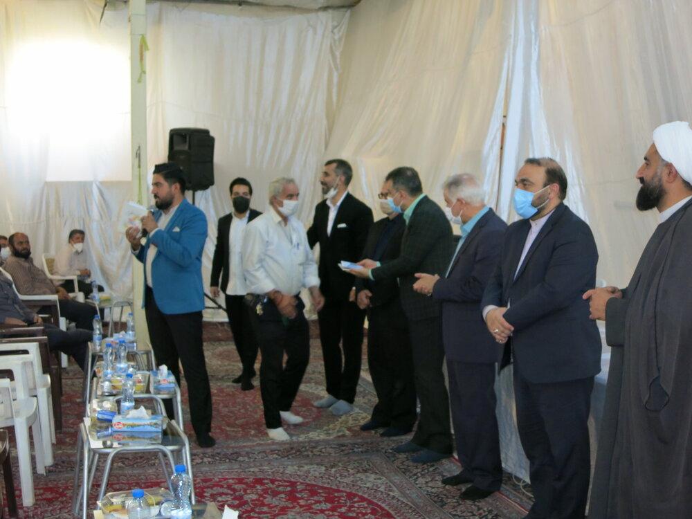 بازدید مدیر کل ستاد اجرایی فرمان امام (ره) از مراسم احسان غدیر