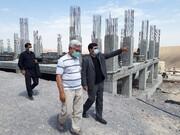بازدید مدیرکل ستاد اجرایی فرمان حضرت امام(ره) در استان آذربایجان شرقی از پروژه های مسکن برکت ستاد اجرایی  در شهر جدید سهند